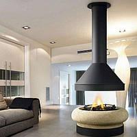 ZEUS CENTRAL со стеклом- Дизайнерский камин. Traforart (Испания)., фото 1