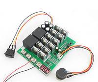 Контроллер c дисплеем и реверсом регулятор скорости вращения двигателя постоянного тока 10V-50V 60A 15 кГц, фото 1