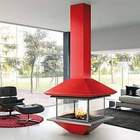 GAIA CENTRAL со стеклом- Дизайнерский камин. Traforart (Испания)., фото 1