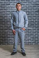 Мужской спортивный костюм цвет светло серый р-44- 58