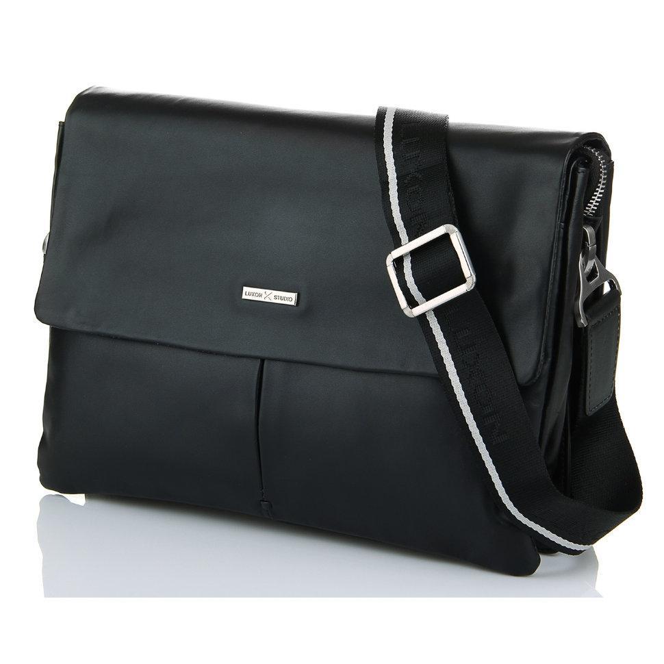 Горизонтальная сумка из гладкой кожи Luxon 38369-4