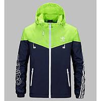 Ветровка мужская фирменная Adidas сине-салатовая