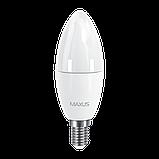 Набор LED ламп MAXUS C37 6W мягкий свет 220V E14 (по 2 шт.) (2-LED-533) (NEW), фото 2