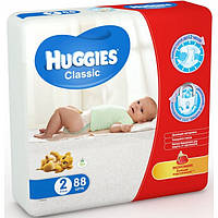 Подгузники Huggies Classic 2 (3-6 кг) 88шт