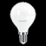 LED лампа MAXUS G45 F 8W 3000K 220V E14 (1-LED-5415) (NEW), фото 2