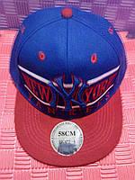 Бейсболка New York(синяя с красным)