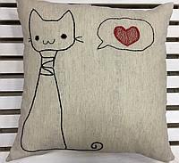 Декоративная  подушка льон  40*40, фото 1