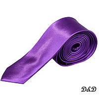 Галстук узкий фиолетовый