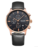 Мужские классические часы Megir De Luxe M2011 / Гарантия
