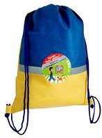 Эко - рюкзак со светоотражающей полосой (жёлто-голубой)