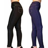 Лосины джинсовые на меху, фото 1