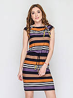Женское платье с кулиской из трикотажа 90161/2