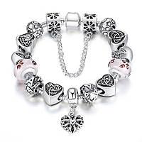 Браслет женский 632 Пандора (все размеры) Pandora с шармами