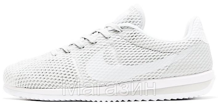 00500eefe591 Мужские летние кроссовки Nike Cortez Ultra BR White Найк Кортес белые