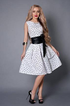 Платье мод 386-2 размер 44,46,48,50 белое в якорь, фото 2