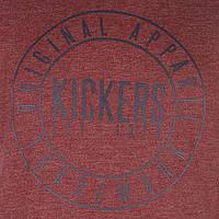 Kickers футболка бордо, размер L ПОГ 54 см  MRSP £ 16.99