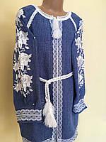 Сукня вишита на габардині для дівчинки 8-9 років, фото 1