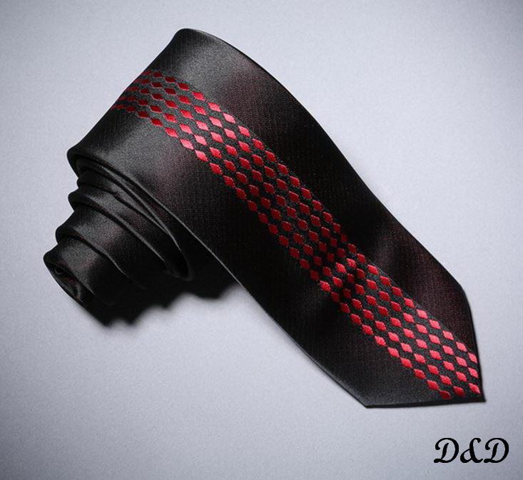 Галстук эксклюзивный черно-красный