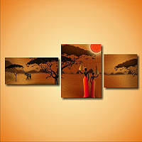 "Модульная картина ""Две африканские девушки""  (400х990 мм) [3 модуля]"