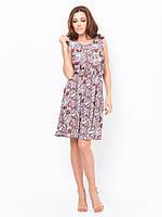 Легкое женское  платье из поплина на резинке с расклешенной юбкой 90178