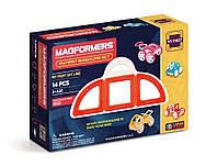 Магнитный конструктор Мой первый красный автомобиль, 14 элемента, серия Для самых маленьких, Magformers