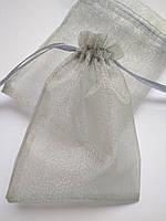 Мішечки сувенірні органза 7х9 см, срібло. Ціна за 1 шт. Виробництво Україна, фото 1