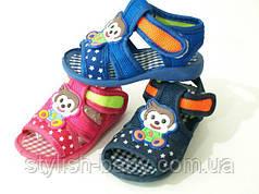 Дитяче літнє взуття. Дитячі пінетки-босоніжки бренду Bluerama (пищят) (15-20)