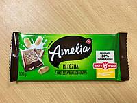 Шоколад молочный Amelia (Амелия) с арахисом Польша 100г