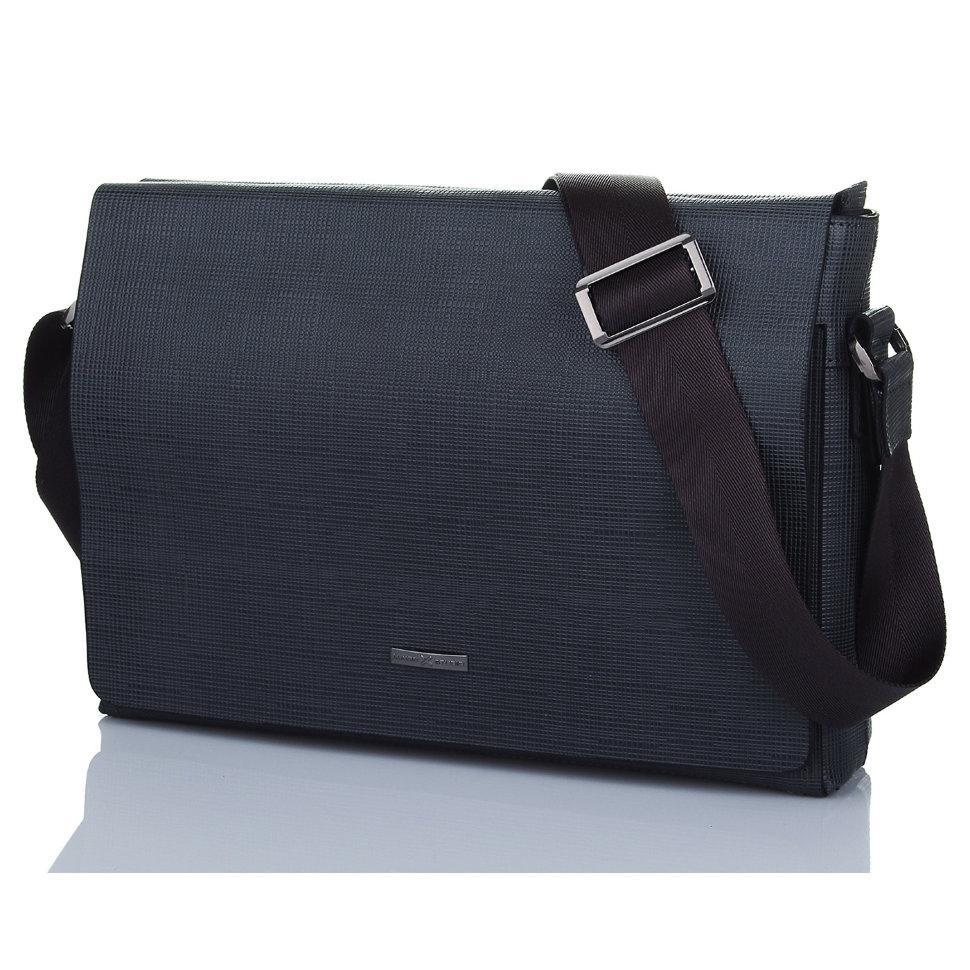 Деловая мужская сумка серого цвета Luxon 95-8021-3