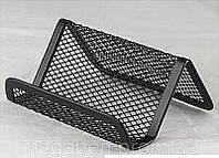 Подставка, бокс под визитки, черная сетка 95*80*60мм металл. Axent №2114-01 (ДВ)