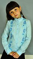 Блузка для девочки 2047 голубая