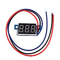 Вольтметр цифровой DV-36Blue постоянного тока 0-200V (трех разрядный, синий, бескорпусной)