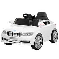 Детский электромобиль BMW M 3271 EBLR-1 белый, кожаное сиденье и мягкие колеса