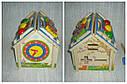 Дерев'яна іграшка конструктор Будиночок стучалка + сортер, фото 7