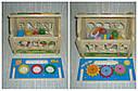 Дерев'яна іграшка конструктор Будиночок стучалка + сортер, фото 8