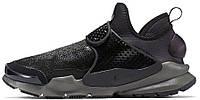 Мужские модные кроссовки 2017 Stone Island x Nike Sock Dart Mid Black Найк черные