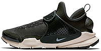Мужские модные кроссовки 2017 Stone Island x Nike Sock Dart Mid Khaki Найк хаки