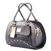 Черная элегантная сумка дамская женская №1354lizard