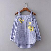 Блузка женская вышитая 404403 Блузки с вышивкой реплика Zara