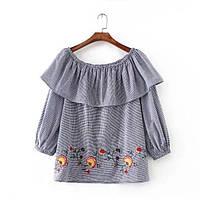 Блузка женская вышитая 404401 Блузки с вышивкой реплика Zara