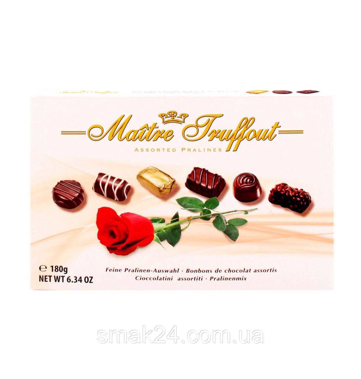 Конфеты шоколадные  Ассорти Пралине Maitre Truffout Австрия 180 г