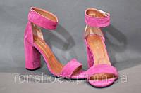 Замшевые босоножки розовые мега стильные . Стиль 2017. Мода