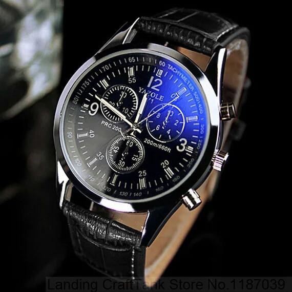 Часы мужские наручные кварцевые с чёрным ремешком и белой строчкой (чёрный  циферблат) - Фарбия 3ab3e2d9743