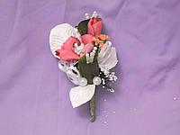 Свадебные бутоньерки для свидетелей (бутоньерка и цветочный браслет) из орхидей