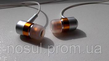 Наушники Metallic Orange вакуумные, 3.5 мм ОРАНЖЕВЫЕ iPod iPhone Samsung Android