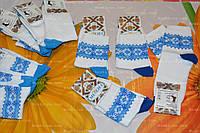 Детские носки,р.20-22.Белые и синие, фото 1