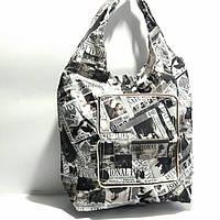 Экосумка с карманом складывающаяся в кошелек расцветки фото