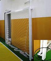 Ворота минифутбол(гандбол) 3х2м стальные, шарнирно складывающиеся к стенке на колесиках