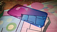 Чехол для HTC One M10 TPU пурпурно-синий