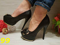 Туфли с открытым носком бант женские
